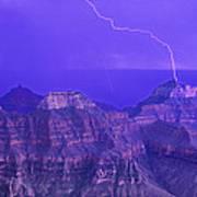 Lightning Storm North Rim Grand Canyon National Park Arizona Art Print