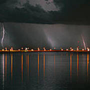 Lightning Storm Pano Work A Art Print