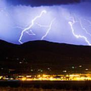 Lightning Striking Over Ibm Boulder Co 3 Art Print