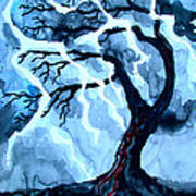 Lightning Tree Art Print
