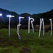 Lightpainting Image Spelling The Word Art Print