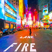 Lights Are Bright On Broadway - Times Square Art Print