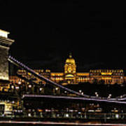 Lights Of Budapest Art Print