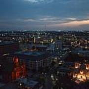 Lights Of San Antonio Tx  Art Print