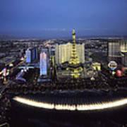 Lights Of Vegas Art Print