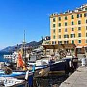 Liguria - Harbor In Camogli Art Print