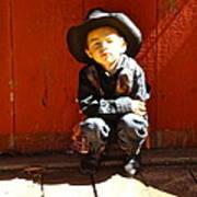Lil Cowboy Afternoon Art Print