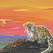 Lil' Leopard Art Print