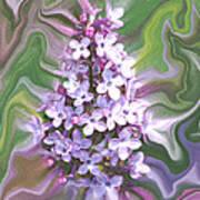 Lilac Abstract Art Print