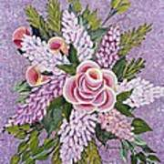 Lilac And Rose Bouquet Art Print
