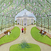 Lilac Arbour Oil On Board Art Print