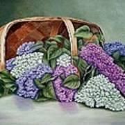 Lilac Basket Art Print