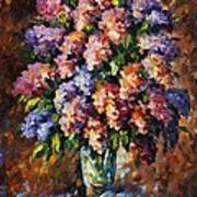 Lilac - Palette Knife Oil Painting On Canvas By Leonid Afremov Art Print