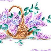 Lilac Vintage Impressionism Painting Art Print
