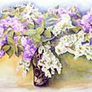 Lilacs Bouquet Art Print