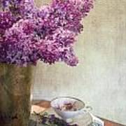 Lilacs In Vase 3 Art Print
