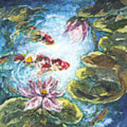 Lilies #3 Art Print