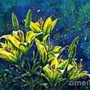 Lilies Art Print by Zaira Dzhaubaeva