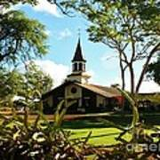 Liliuokalani Church - Haleiwa Hawaii Art Print