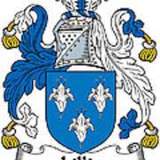 Lillie Coat Of Arms Irish Art Print