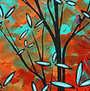 Lilly Pulitzer Inspired Abstract Art Colorful Original Painting Spring Blossoms By Madart Art Print