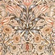 Lily And Pomegranate Wallpaper Design Art Print by William Morris