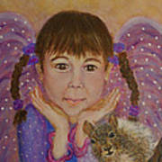 Lily Isabella Little Angel Of The Balance Between Giving And Receiving Art Print