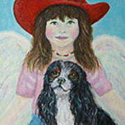 Lily Little Angel Of Self Empowerment Art Print by The Art With A Heart By Charlotte Phillips