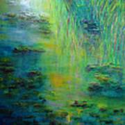 Lily Pond Tribute To Monet Art Print