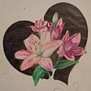 Lilys Of Love Art Print