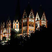 Limburg Cathedral At Night Art Print