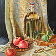Lime And Apples Still Life Art Print