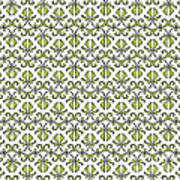 Lime Green And White Vines Art Print