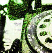 Lime Rotary Phone Art Print