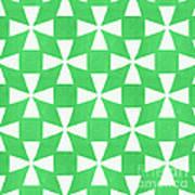 Lime Twirl Art Print