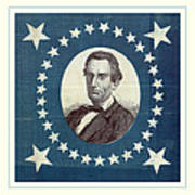 Lincoln 1860 Presidential Campaign Banner - Bust Portrait Art Print