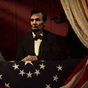Lincoln At Fords Theater 2 Art Print
