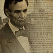 Lincoln At Gettysburg Art Print