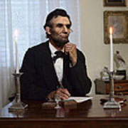 Lincoln At His Desk 2 Art Print