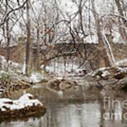 Lincoln Bridge In Winter Art Print