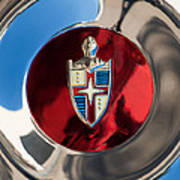 Lincoln Capri Wheel Emblem Art Print by Jill Reger