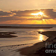 Lincoln City Sunset Art Print by John Daly