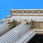 Lincoln County Courthouse Columns Looking Up 01 Art Print
