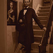 Lincoln Descending Staircase Art Print