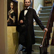 Lincoln Descending Stairs 2 Art Print by Ray Downing