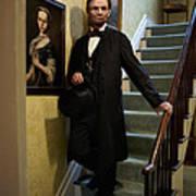Lincoln Descending Stairs 2 Art Print