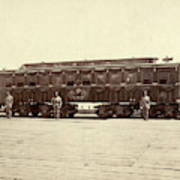 Lincoln Funeral Car, 1865 Art Print