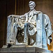 Lincoln In Memorial Art Print
