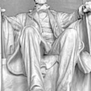 Lincoln Memorial Black/white Hdr Art Print