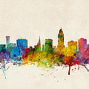 Lincoln Nebraska Skyline Art Print